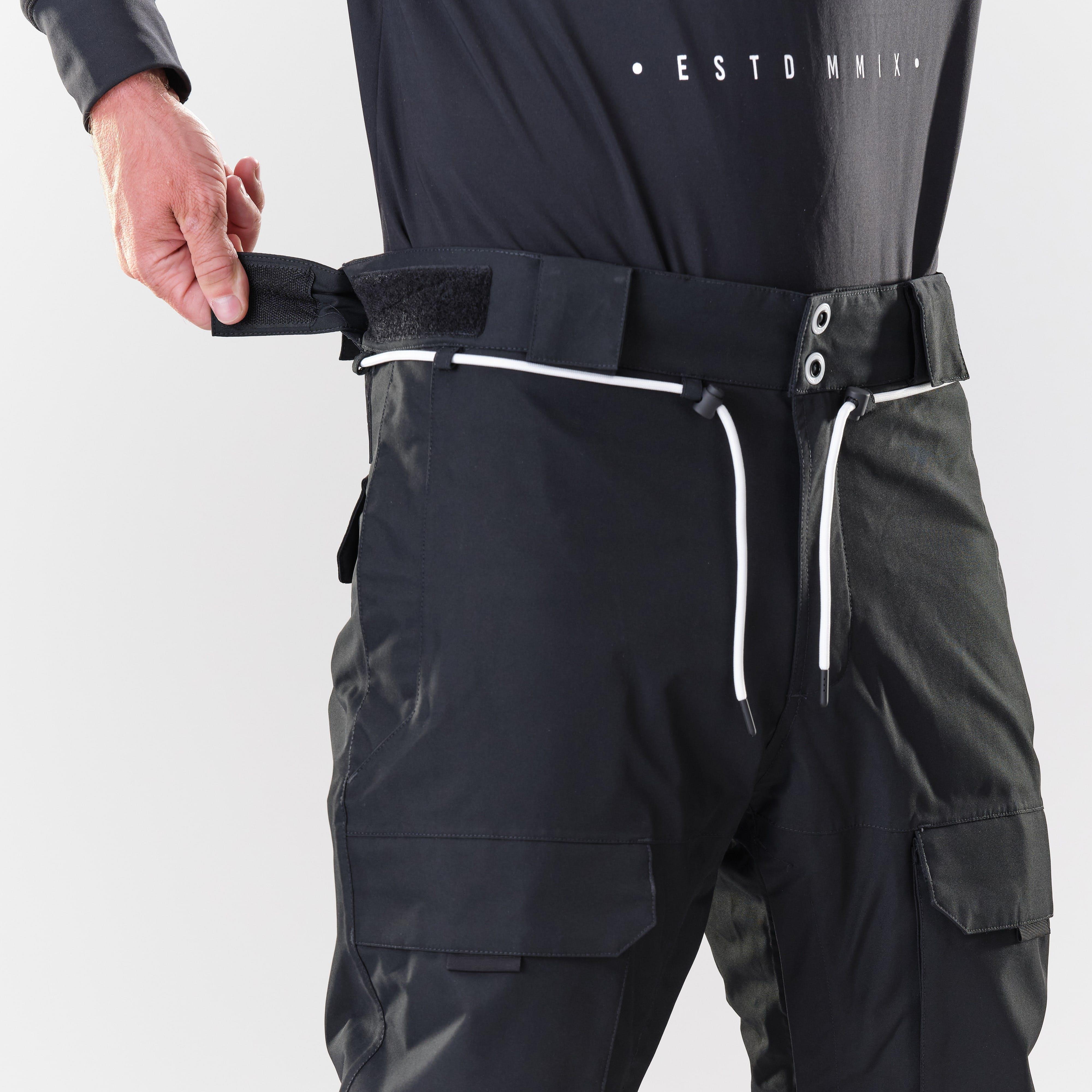 snow pants adjustable waist