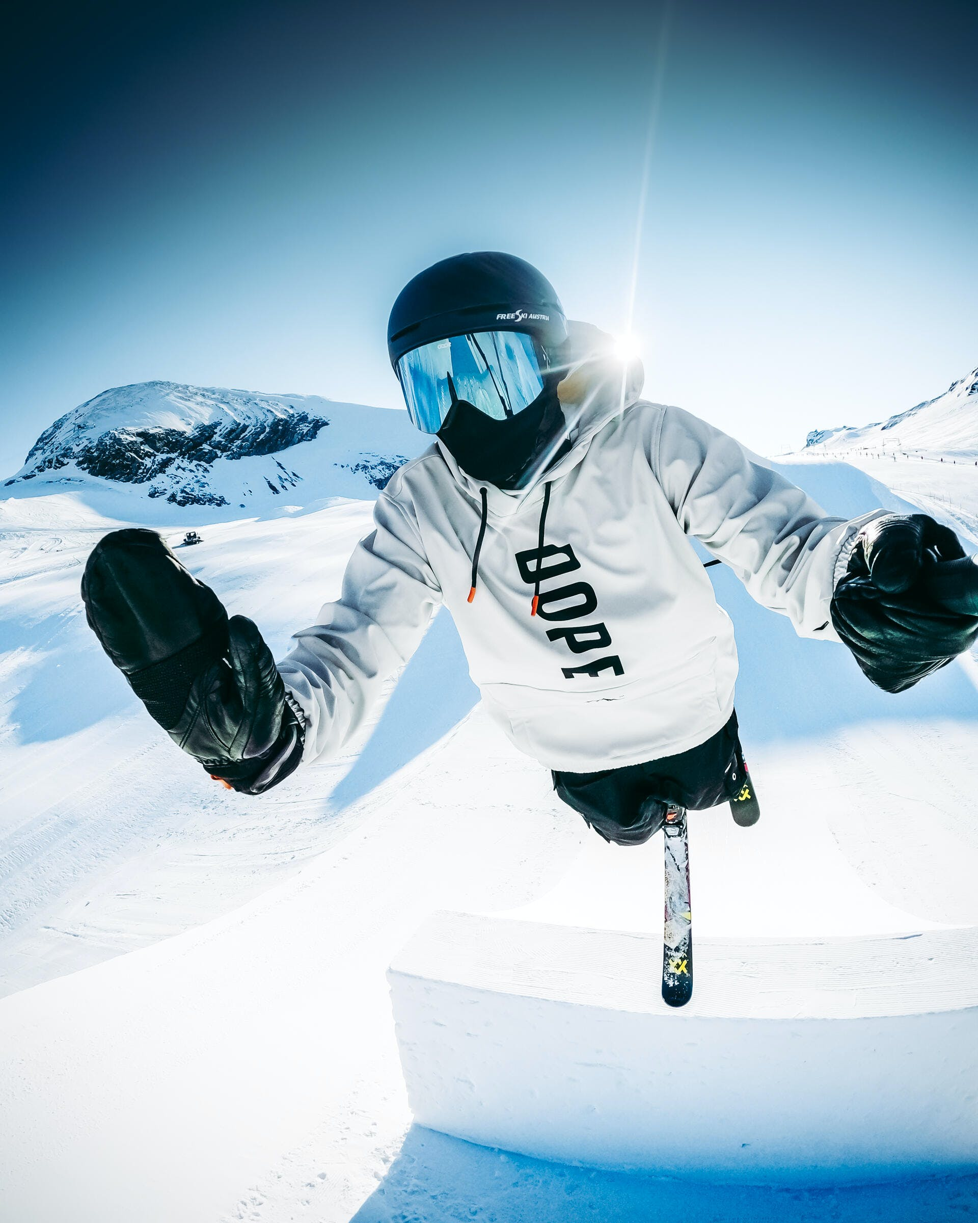 skiing frontflip