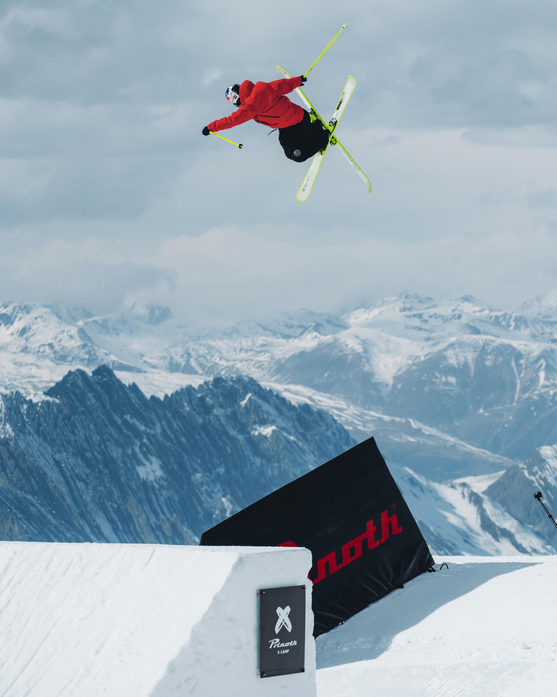 hitting bigger jumps on skis