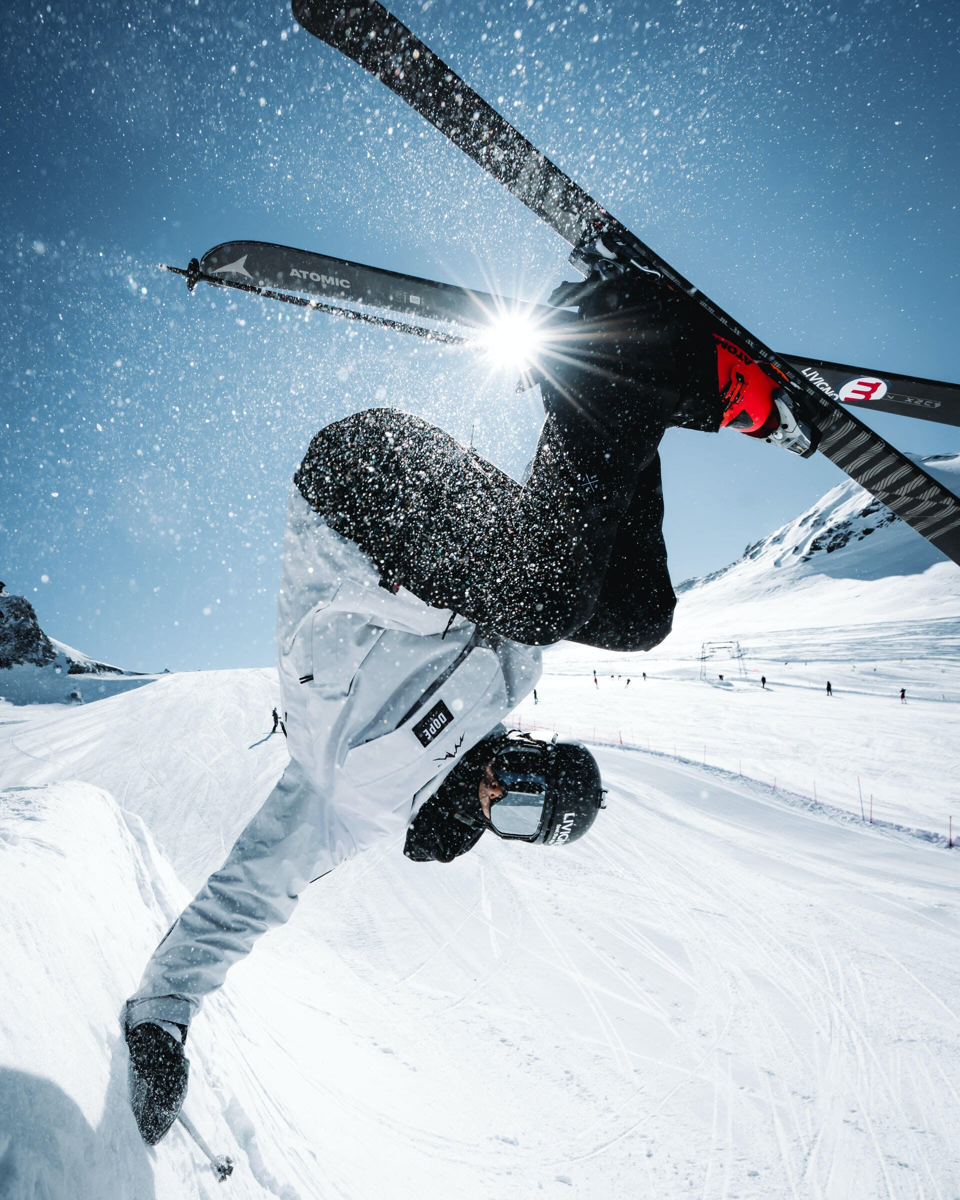 how to do a mute grab on skis