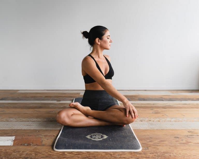 Yoga warrior poses