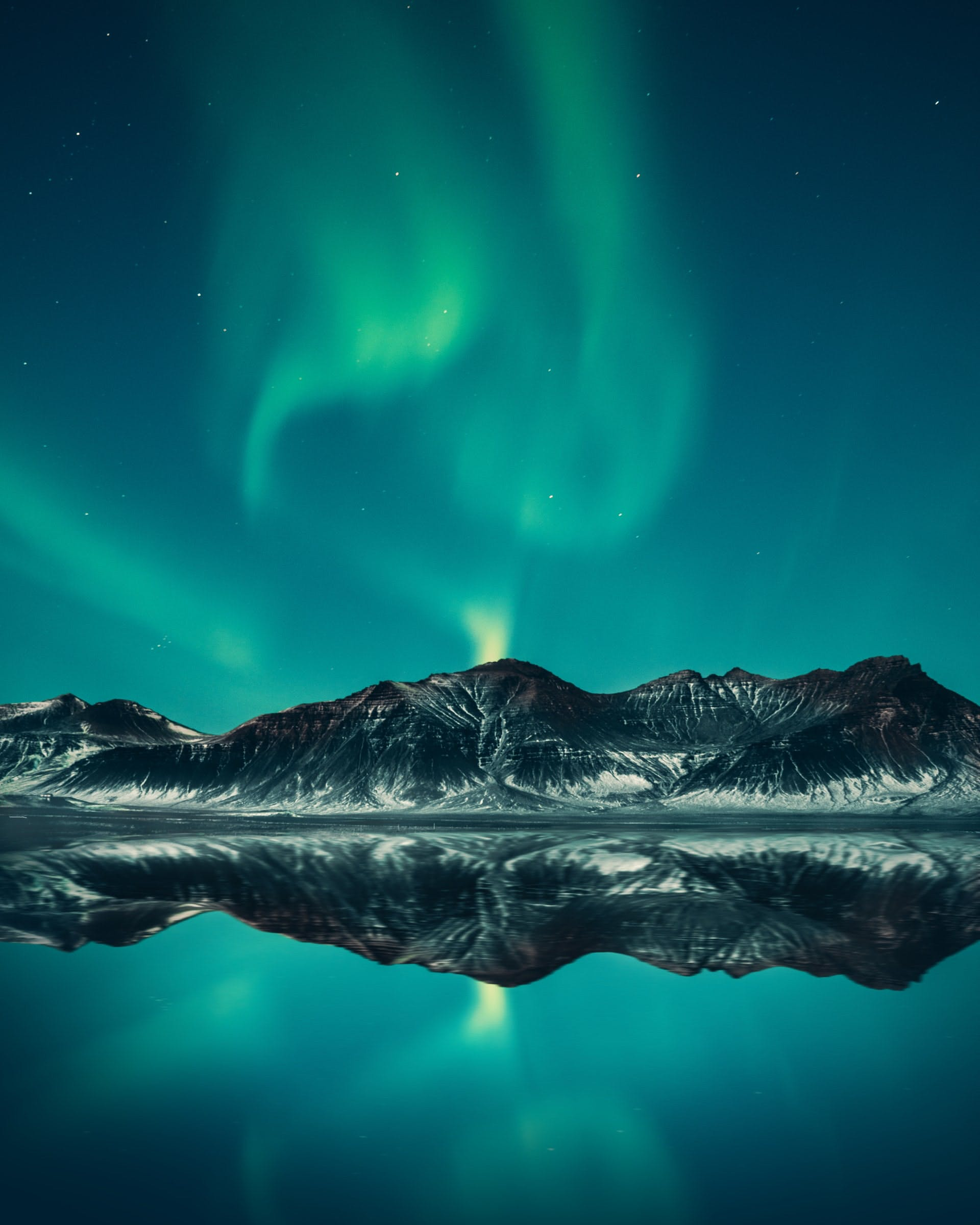 northern light in the winter