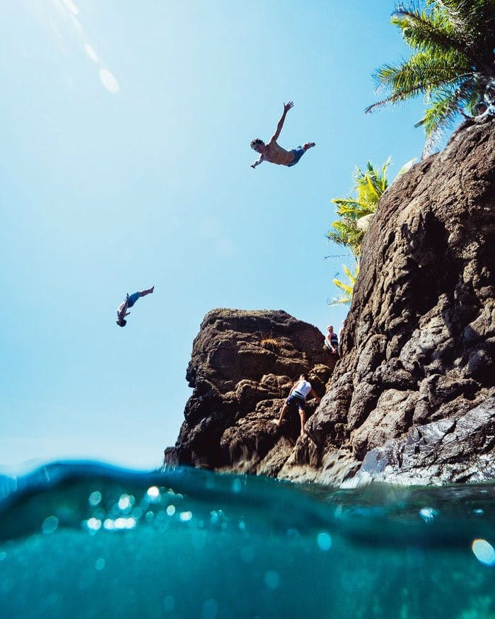 Never jump alone